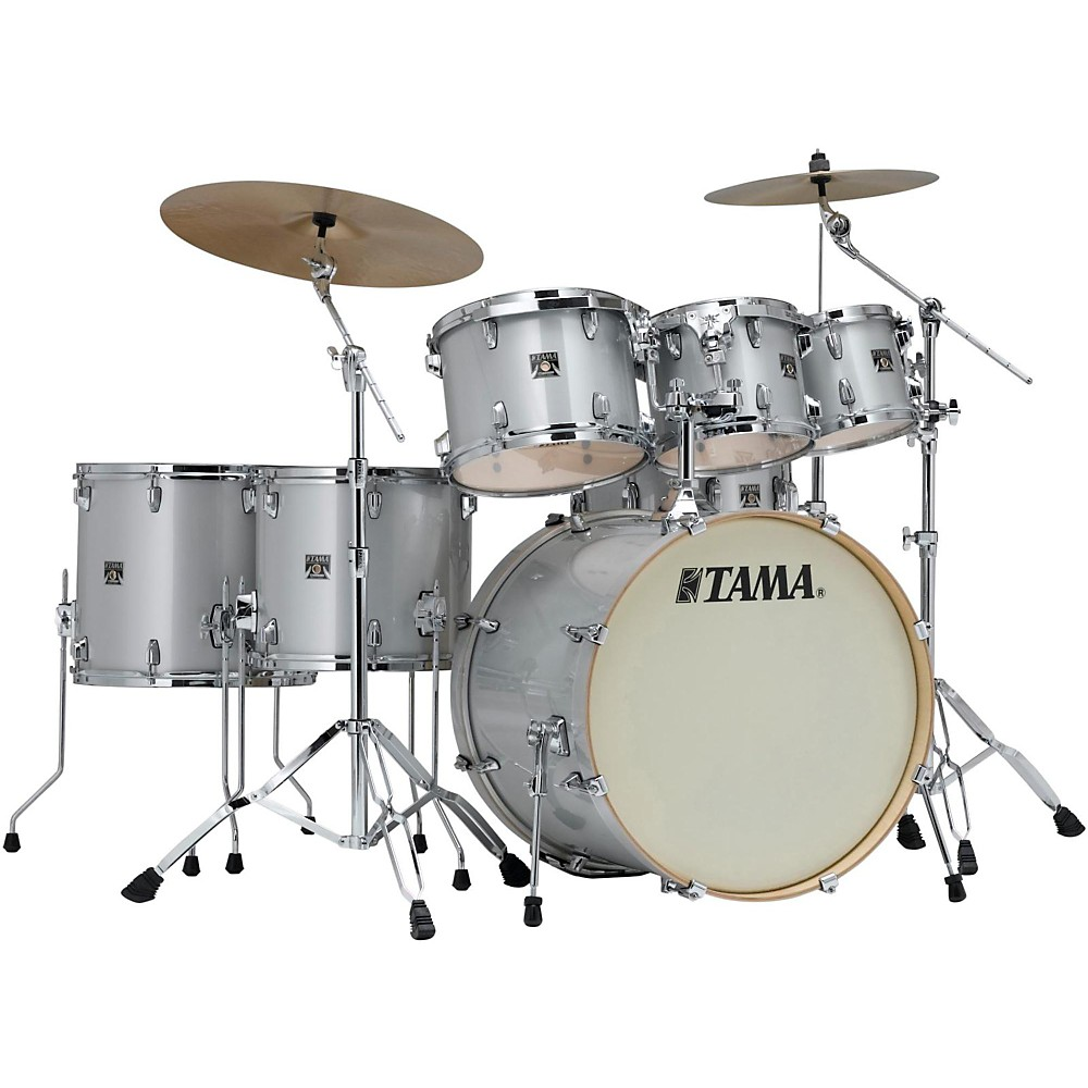 Tama Superstar Classic Custom 7-Piece Shell Pack Silver Snow Metallic 1410794687046