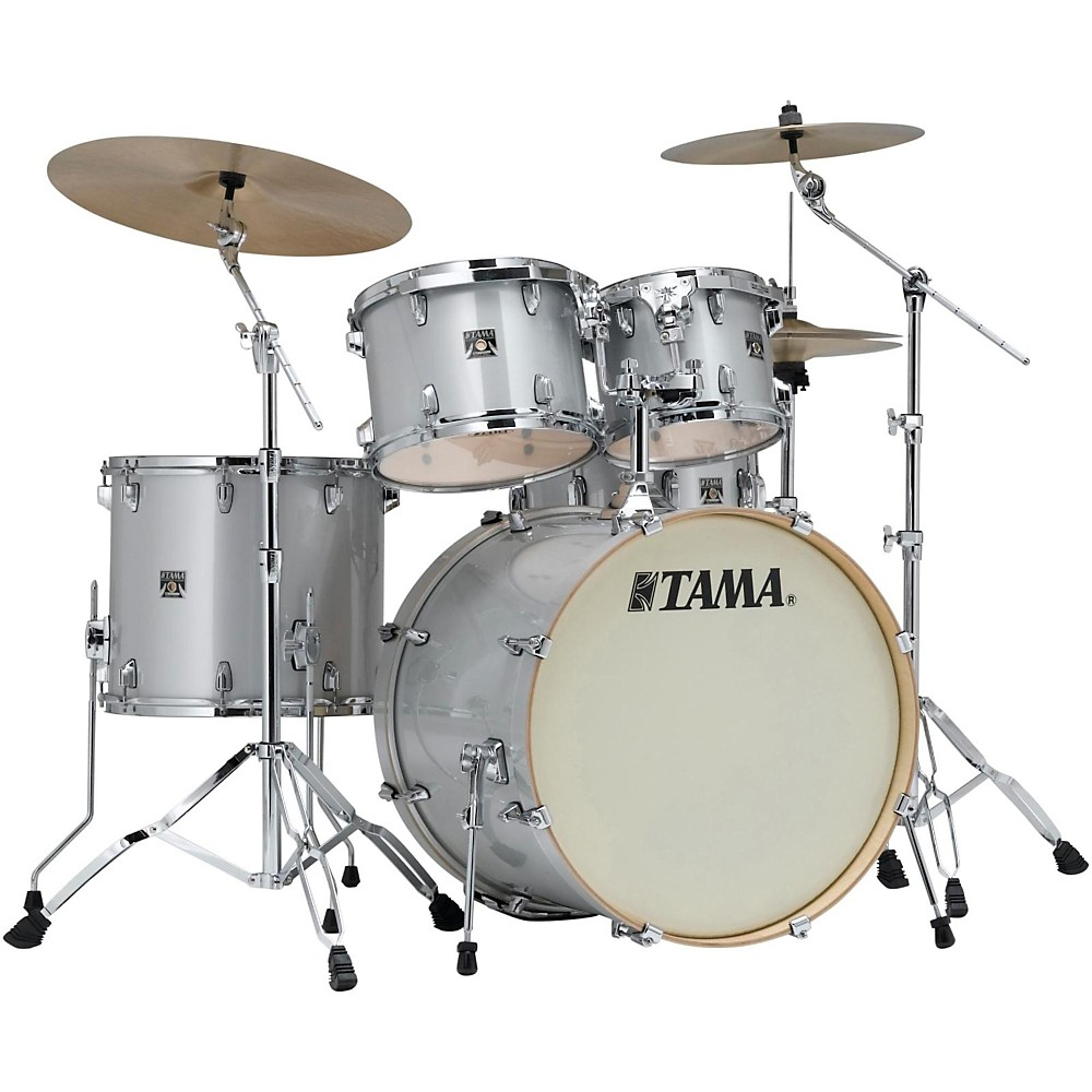 Tama Superstar Classic Custom 5-Piece Shell Pack Silver Snow Metallic 1410794687022