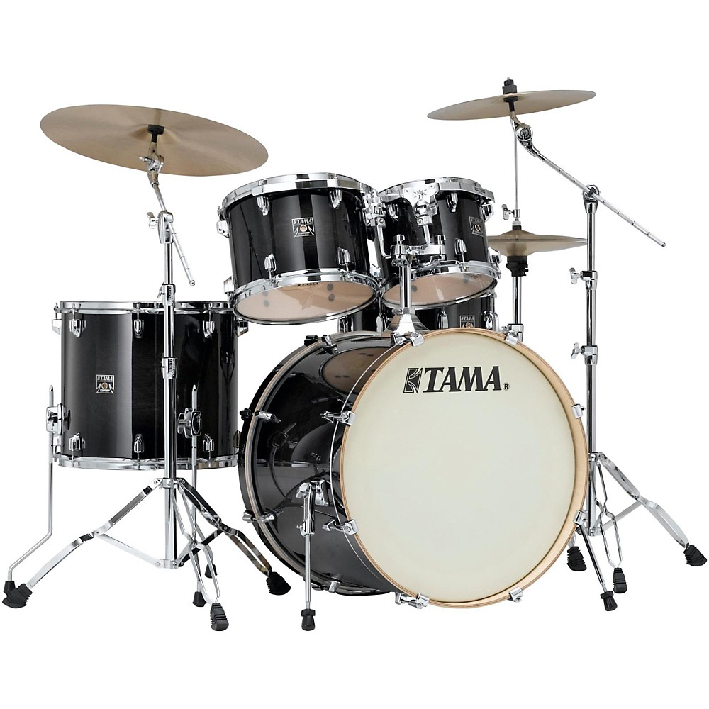 Tama Superstar Classic Custom 5-Piece Shell Pack Transparent Black Burst