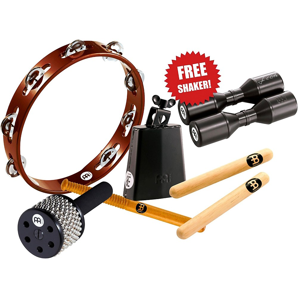 Meinl Essential Perc Pack With Free Shaker For Cajon, Djembe, Bongos, And Congas 1407768425174