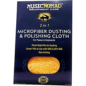Music Nomad Microfiber Dusting & Polishing Cloth Pianos & Keyboards