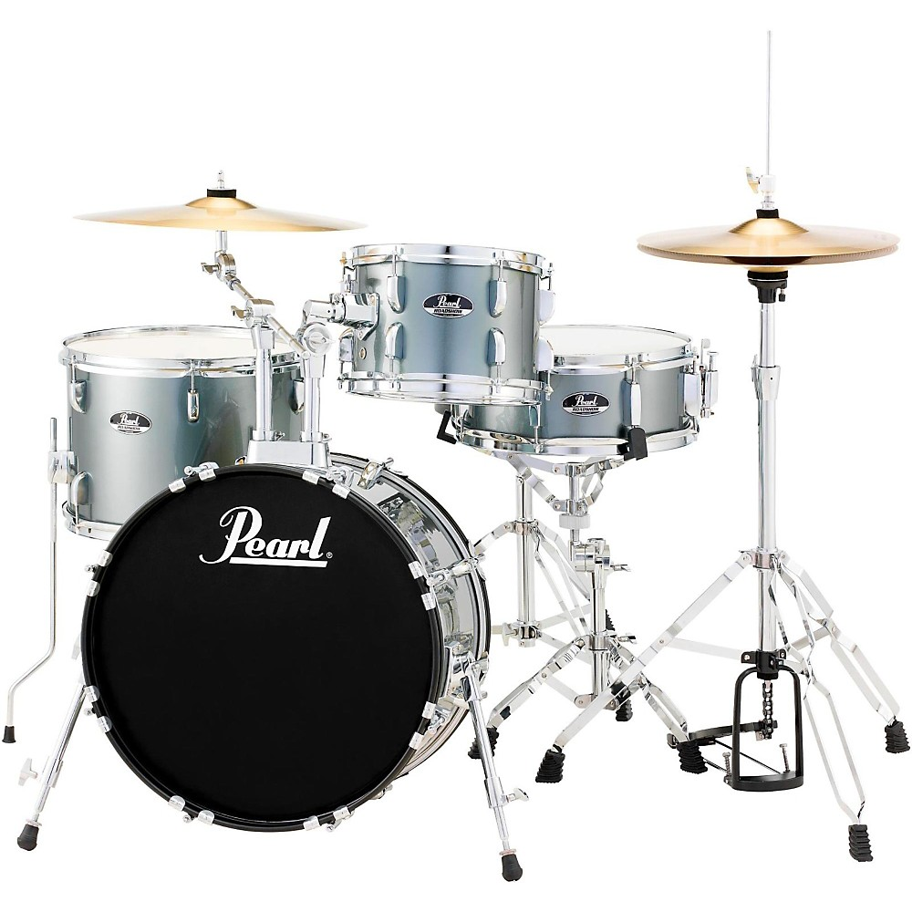 Pearl Roadshow 4-Piece Jazz Drum Set Charcoal Metallic 1410360669585