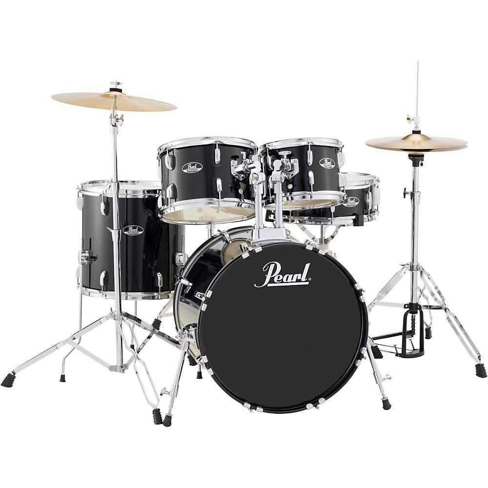 Pearl Roadshow 5-Piece Fusion Drum Set Jet Black 1410360669545