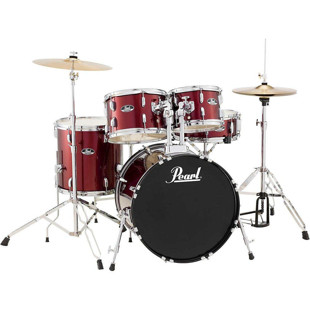 Pearl Roadshow 5-Piece Fusion Drum Set Wine Red 1410360669513