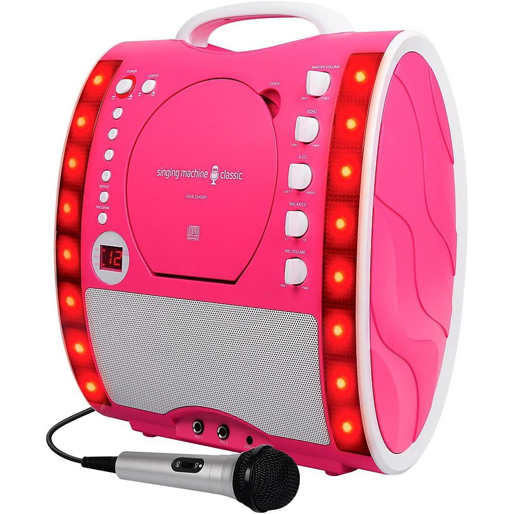 The Singing Machine Sml343 Karaoke System Pink 1410794684838