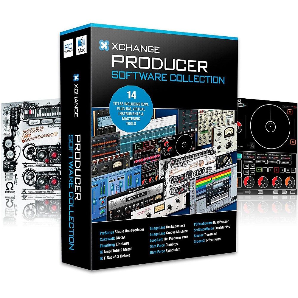 XCHANGE Producer Collection with Presonus, Cakewalk, IK Multimedia, Image Line, Loop Loft, Ohm Force, and Sonnox 1411486715766