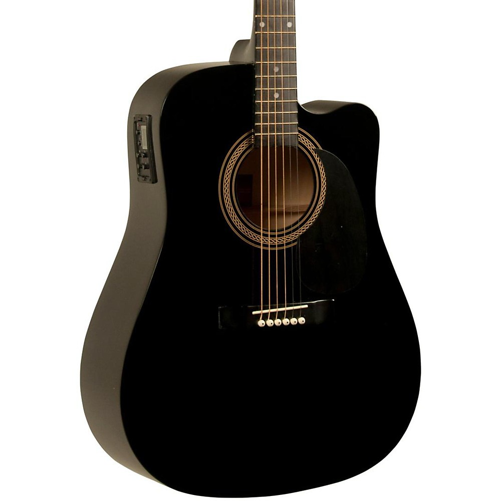 Rogue Ra-090 Dreadnought Cutaway Acoustic-Electric Guitar Bl