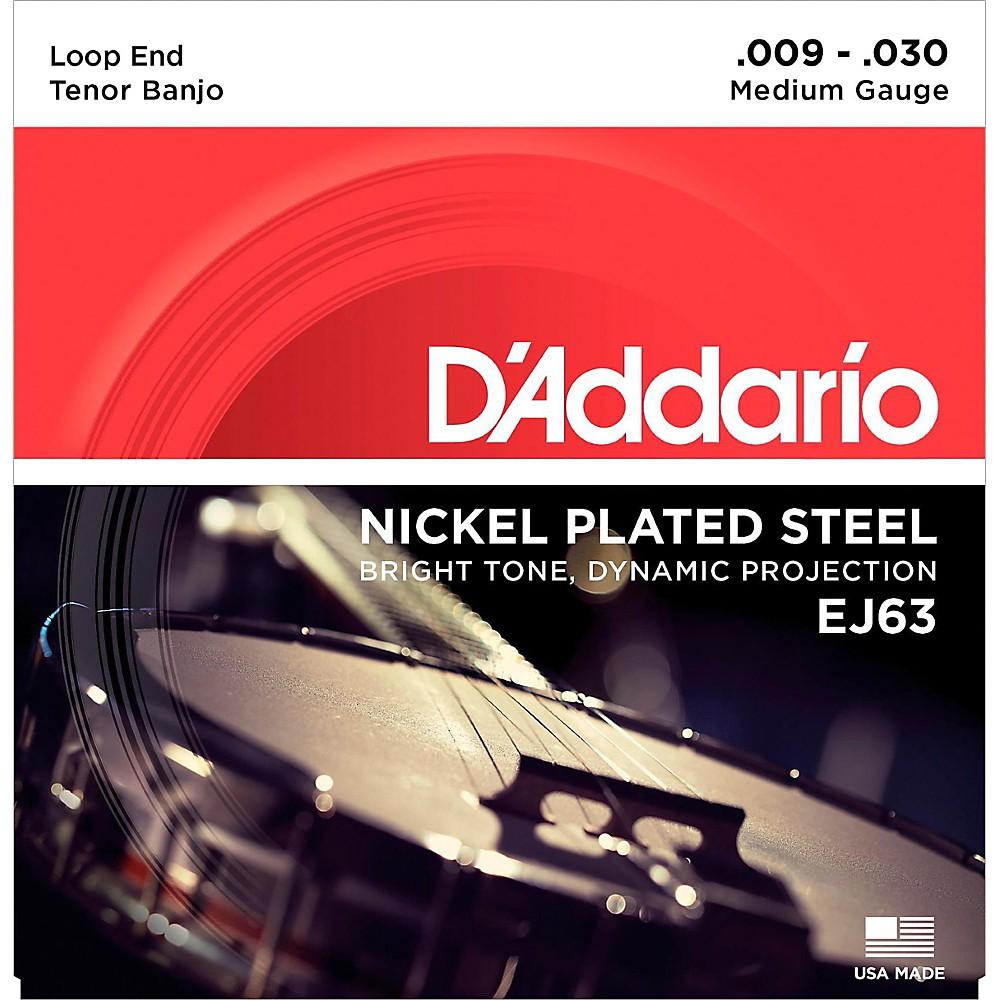 D'addario Ej63 Nickel Tenor Banjo Strings (9-30) 1416843040260