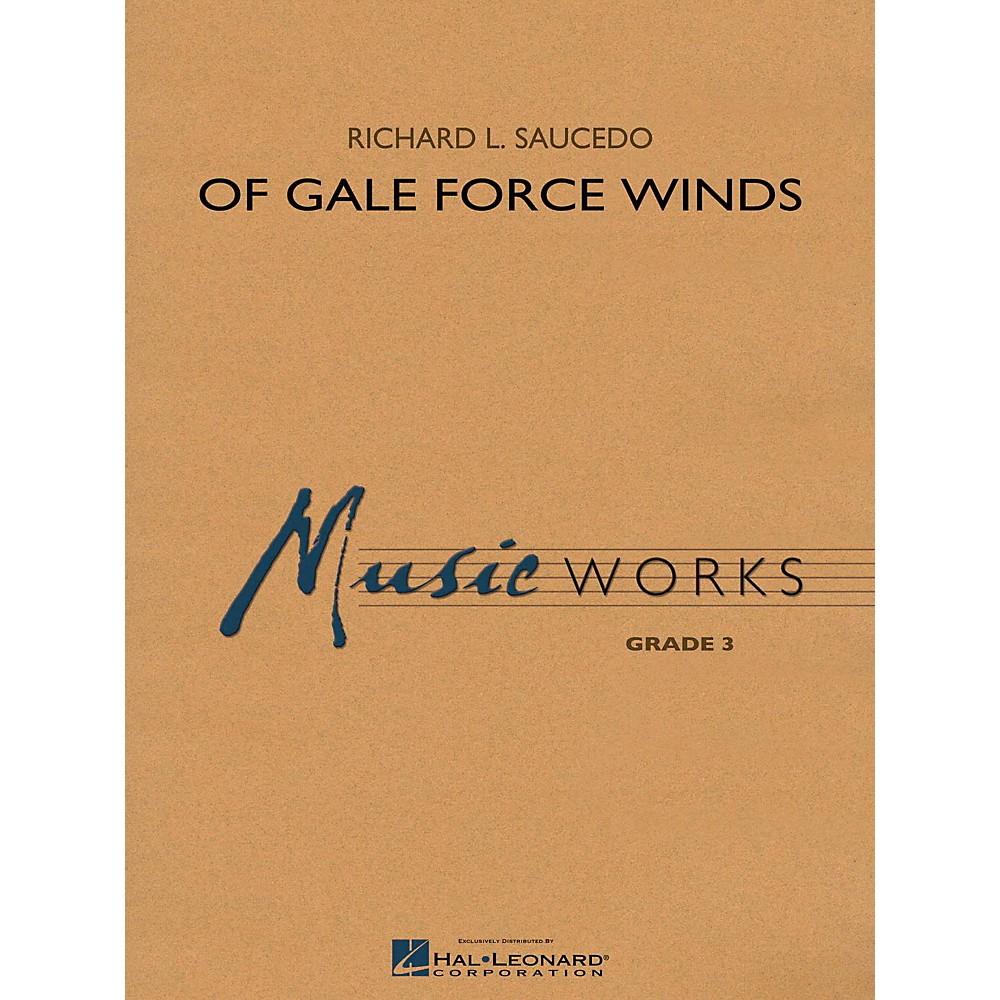 Hal Leonard Of Gale Force Winds Musicworks Grade 3 Concert Band 1423495788958