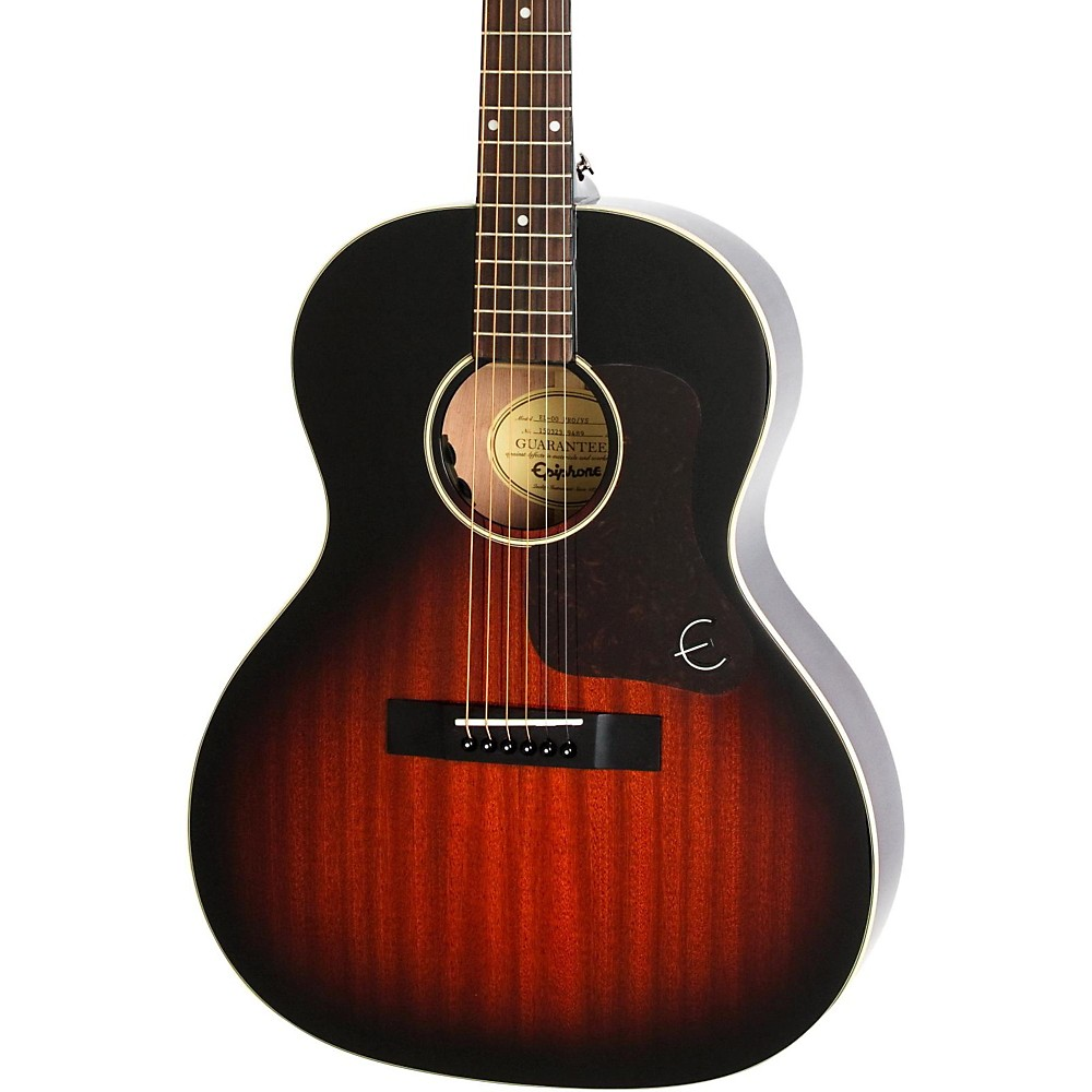 Epiphone Limited Edition El-00 Pro Mahogany Top Acoustic-Electric Guitar Vintage Sunburst 1433169999066