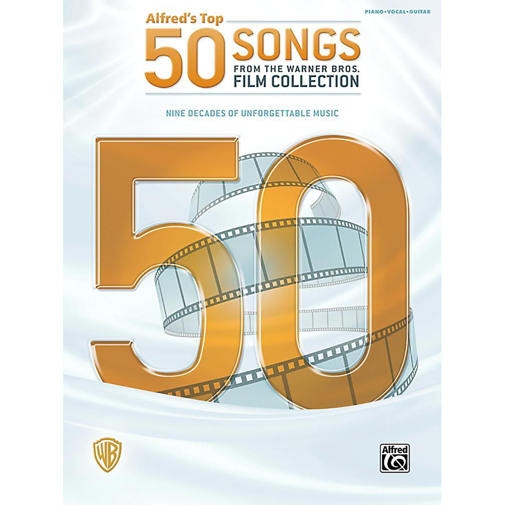 Alfred Top 50 Songs From The Warner Bros. Film Collection Piano/Vocal/Guitar Songbook 1433776528105
