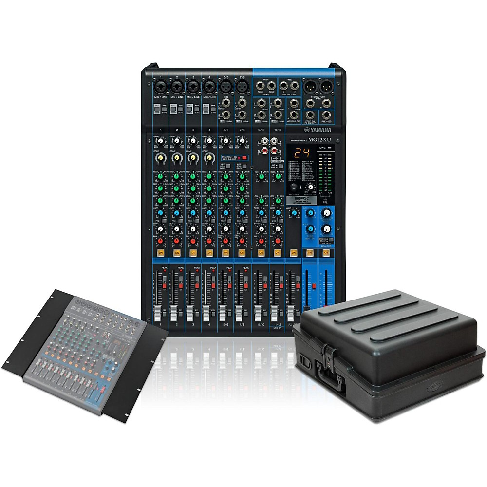 Mixers Yamaha Mgp24x Mg12xu 12 Channel Mixer With Rack Mount Kit And Case