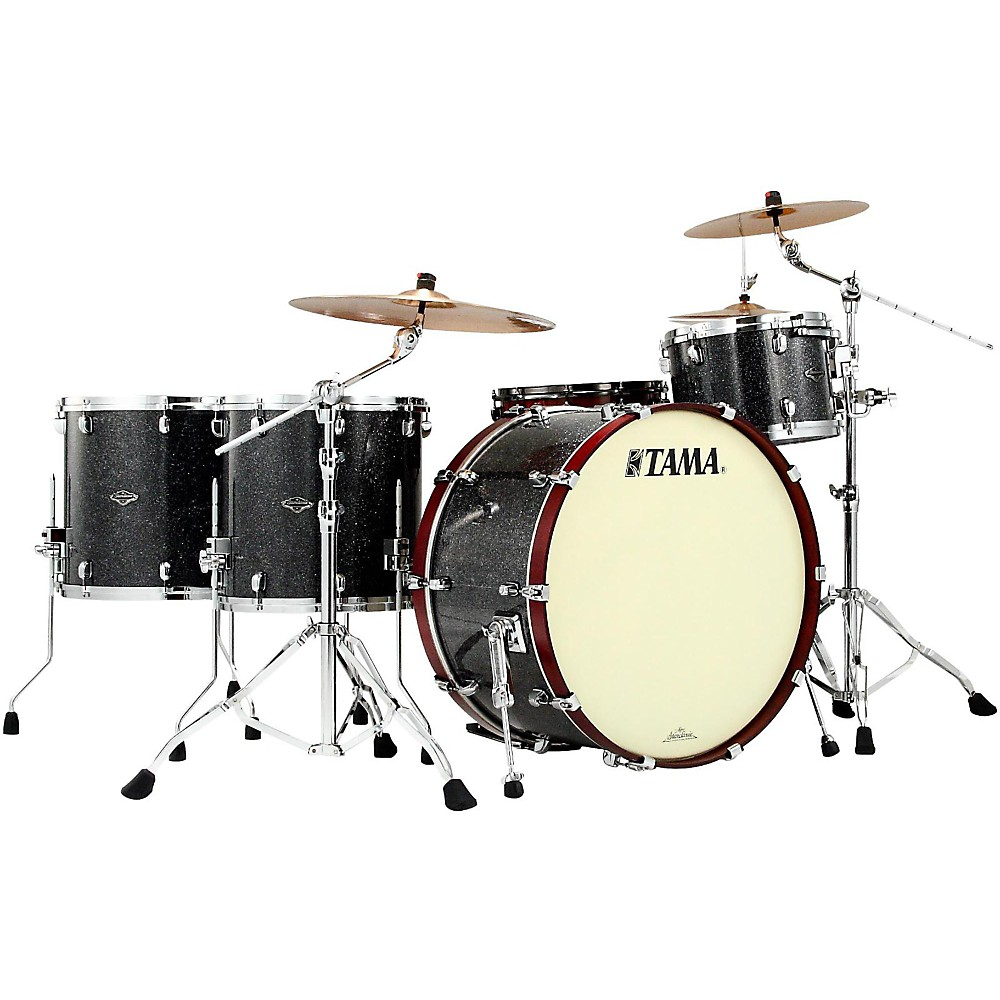 Tama Starclassic Performer B/B Yesteryear Classic Edition 4-Piece Classic Rock Shell Pack Black Star Sparkle 1435592276564