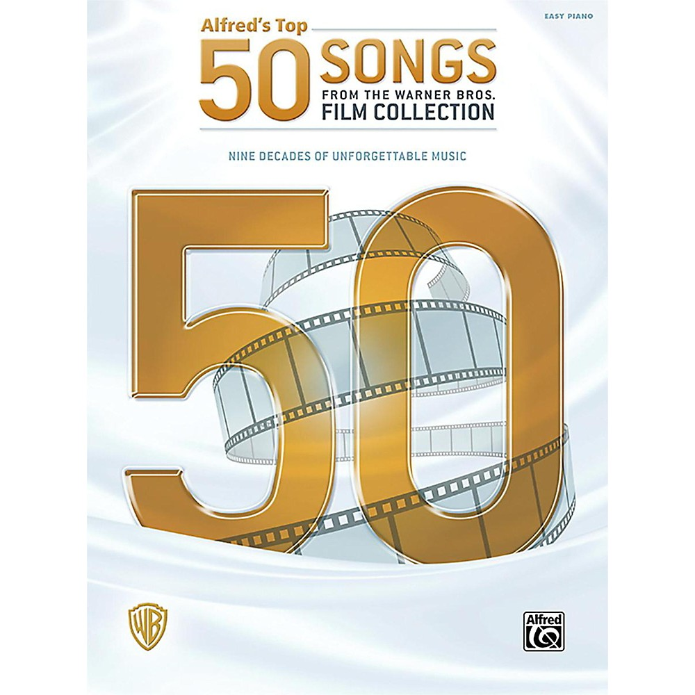 Alfred Alfred's Top 50 Songs From The Warner Bros. Film Collection Easy Piano Songbook 1437504461272