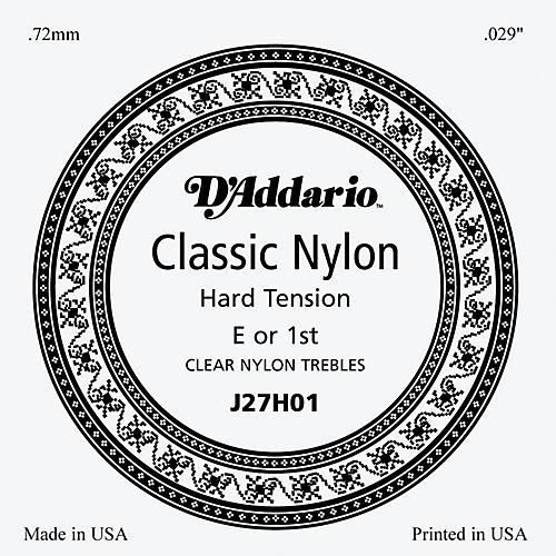 D'Addario J27H01 Clear Nylon Classical Guitar 1st String-thumbnail