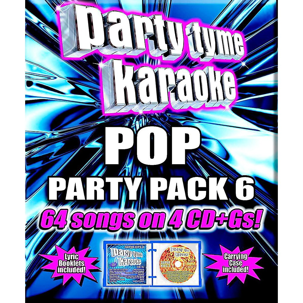 Sybersound Party Tyme Karaoke Pop Party Pack 6 1444227500025