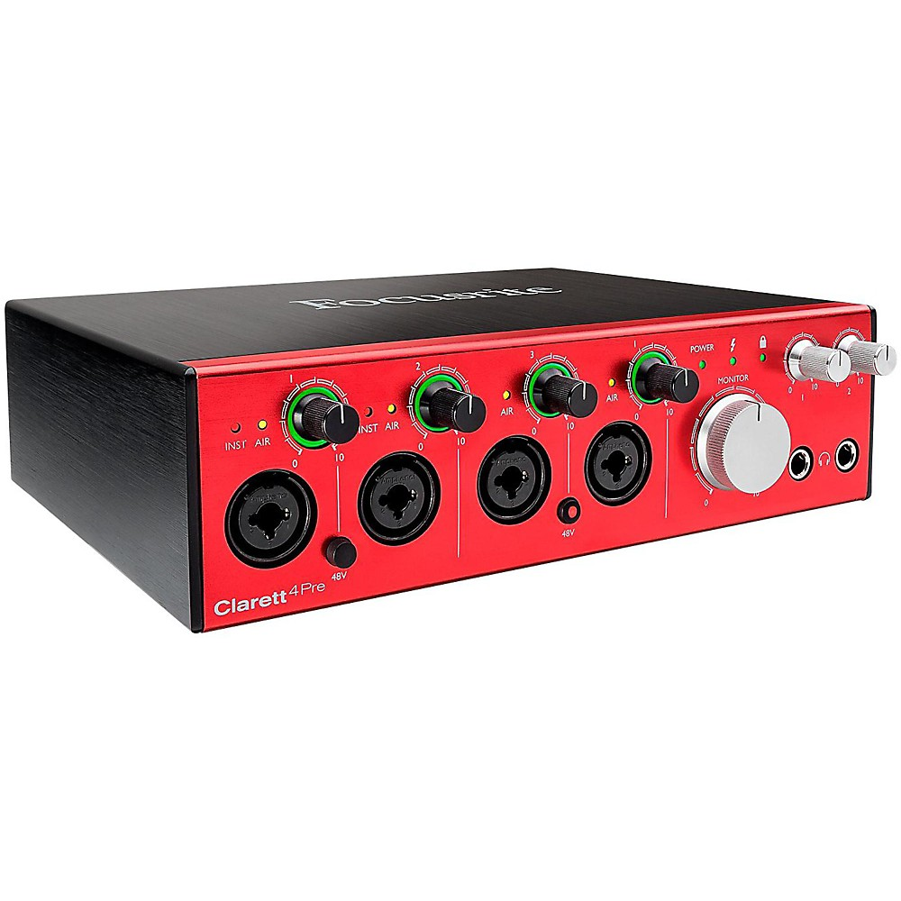 Focusrite Clarett 4Pre Thunderbolt Audio Interface 1500000004355