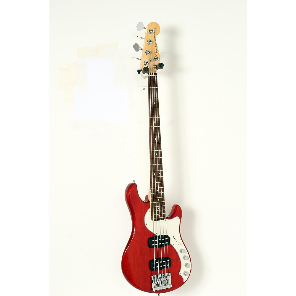 Fender American Elite Dimension Bass V Hh, Rosewood, Electric Bass Guitar Cayenne Burst 190839048837 -  USED005003 0193000728
