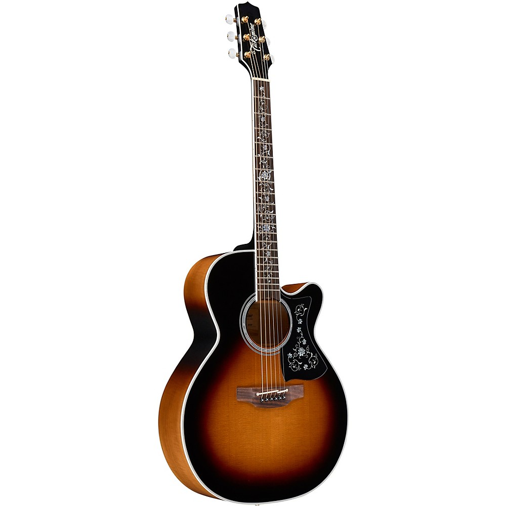 Takamine EF450C Thermal Top Acoustic-Electric Guitar Brown Sunburst 1500000007596