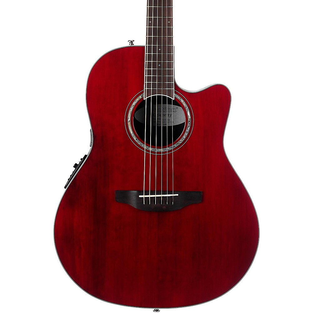 Ovation Cs28 Celebrity Standard Acoustic-Electric Guitar Transparent Ruby Red 1500000008535