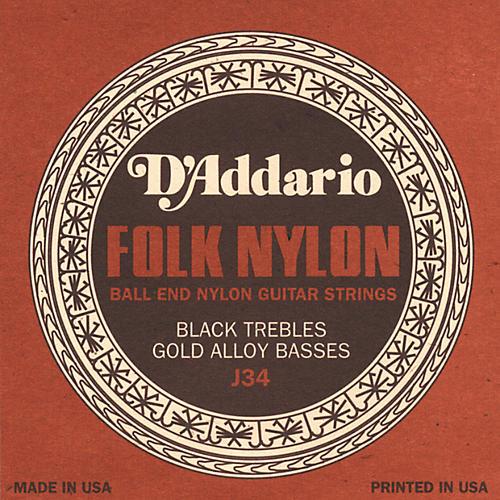D'Addario J34 Folk Nylon BE Acoustic Guitar Strings Set