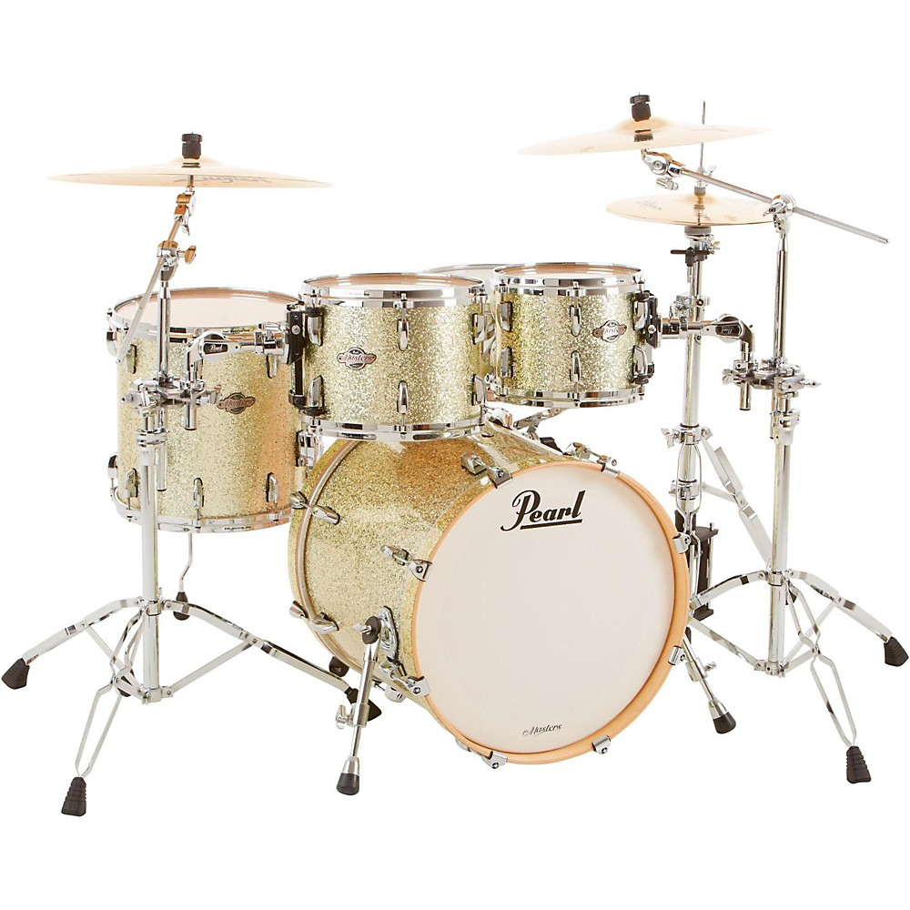 """Pearl BCX 4-Piece Maple Shell Pack w/ 20"""""""" Bass Drum Silver Glitter"""" 1500000005266"""