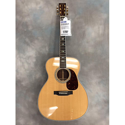 Martin J40 Solid Spruce Top W/Solid Rosewood Back & Sides Abalony Inlays W/Ohsc Natural Acoustic Guitar