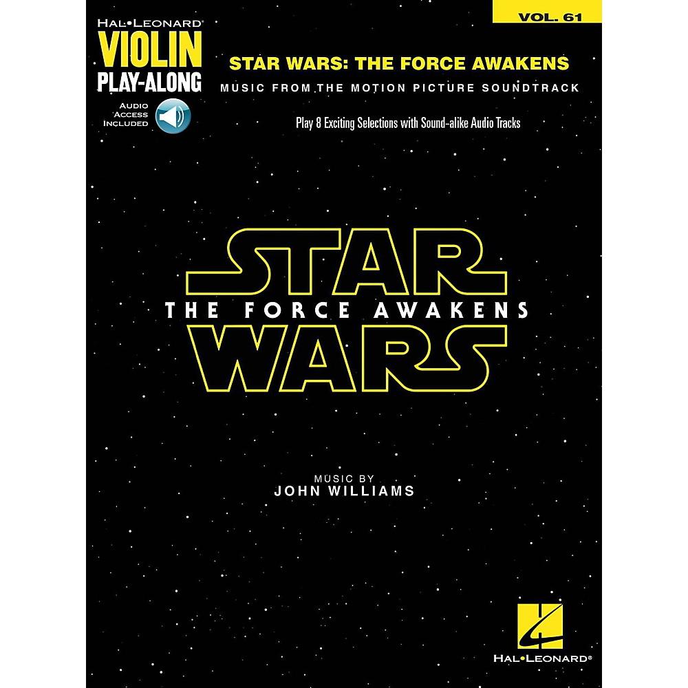 Hal Leonard Star Wars The Force Awakens Violin Play-Along Volume 61 (Book/Audio Online) 1500000019289