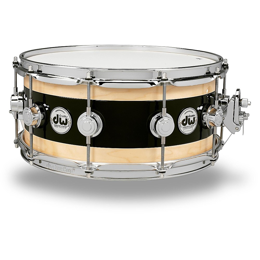 Dw Reverse Edge Snare Black Core With Maple Rings And Chrome Hardware 14 X 7 In. 1500000008984