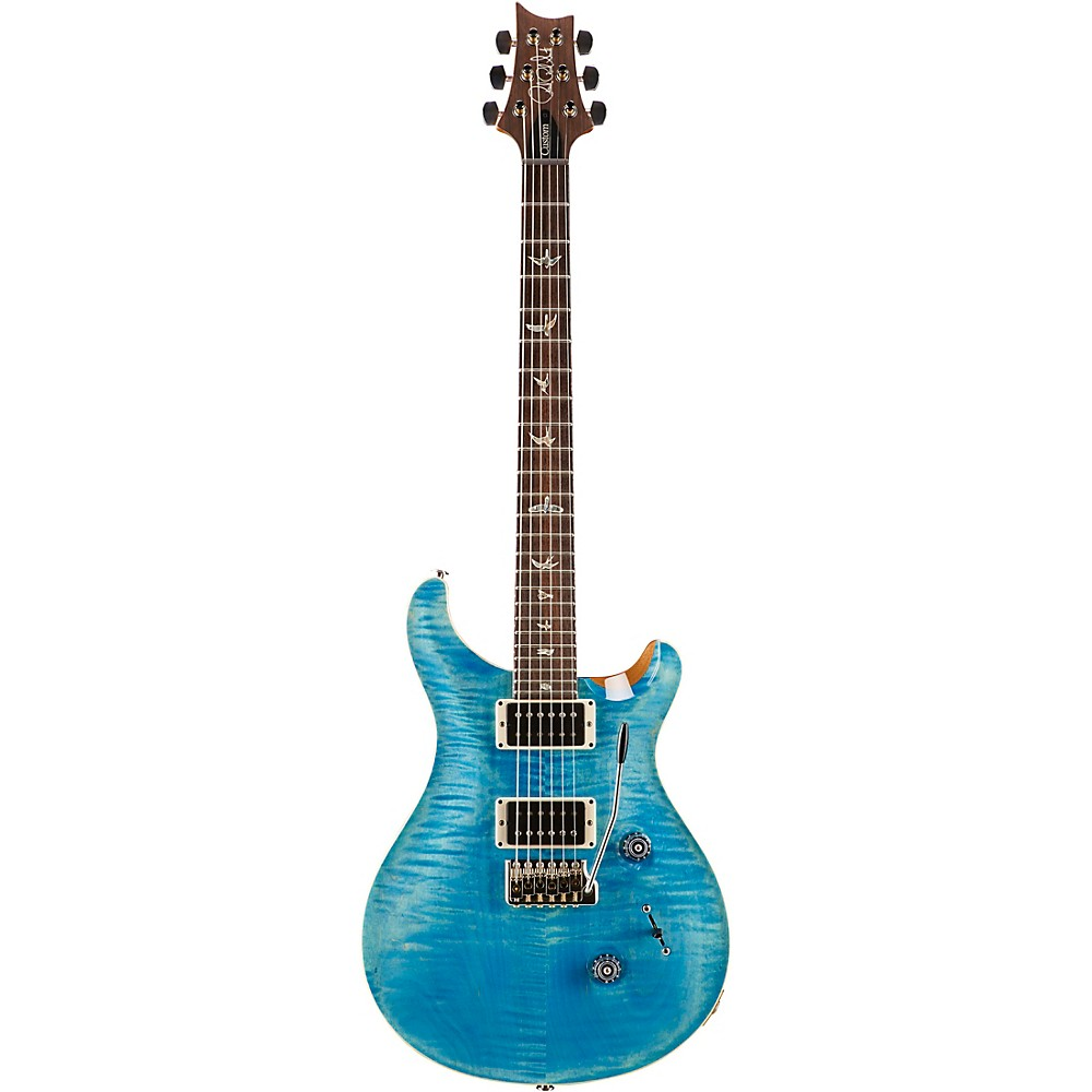 PRS Custom 24 Carved Figured Maple Top with Gen 3 Tremolo Solid Body Electric Guitar Aqua Blue 1500000041058