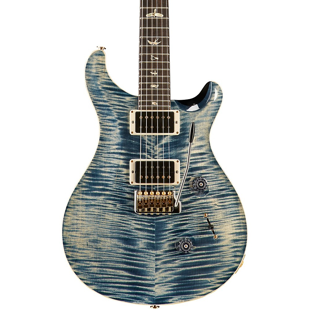 Prs Custom 24 Carved Figured Maple 10 Top With Gen 3 Tremolo Solid Body Electric Guitar Faded Whale Blue 1500000039890