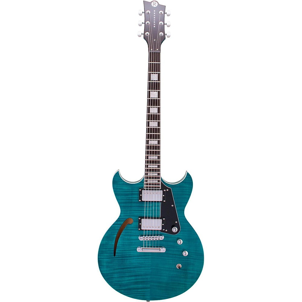 Reverend Manta Ray HB Semi-Hollowbody Electric Guitar Turquoise 1500000028098
