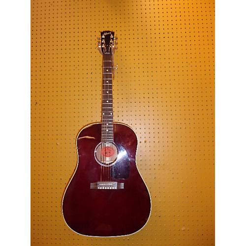 Gibson J45 Custom Acoustic Guitar Wine Red
