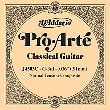 D'Addario J45 G-3 Pro-Arte Clear Normal Single Classical Guitar String
