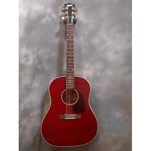 Gibson J45 Standard Acoustic Electric Guitar Wine Red