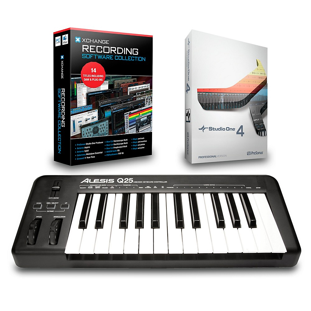 Alesis Q25 25-Key Midi Keyboard Controller Packages  Recording Package 1500000027594