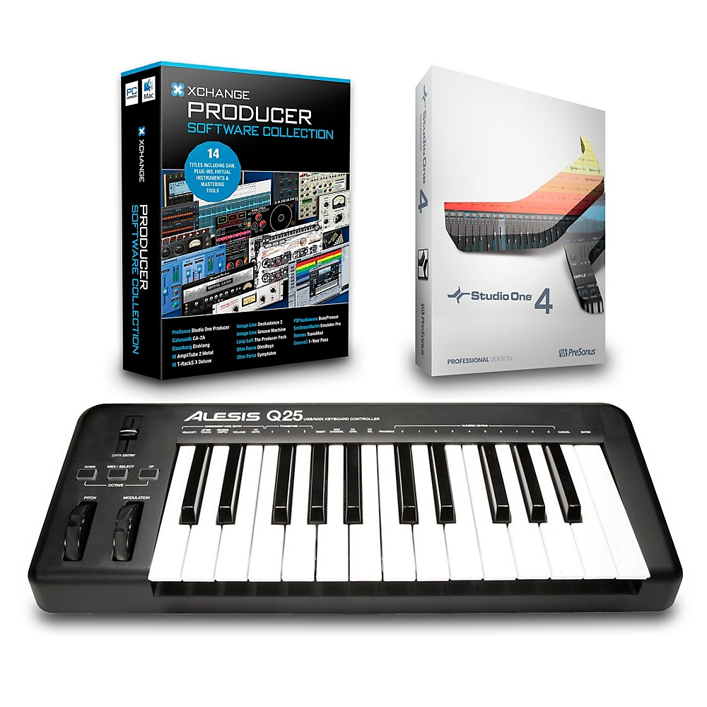 Alesis Q25 25-Key Midi Keyboard Controller Packages  Production Package 1500000027595