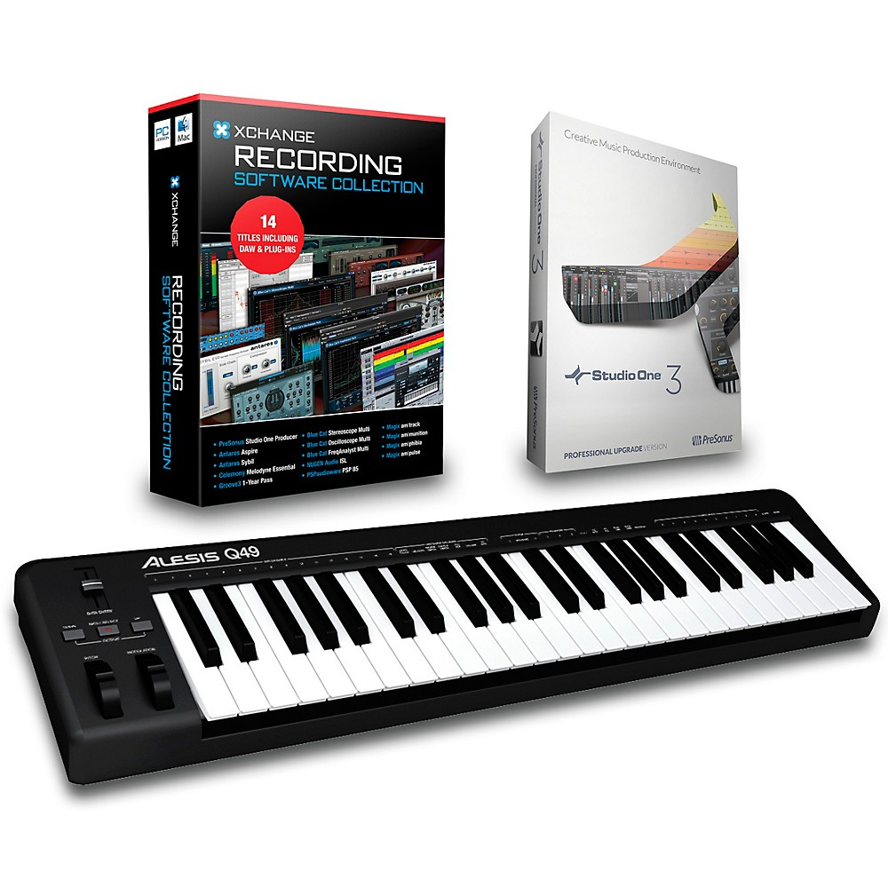 Alesis Q49 49-Key Midi Keyboard Controller Packages  Recording Package 1500000027604