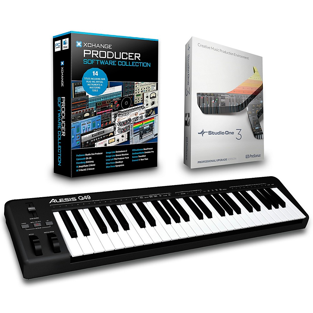 Alesis Q49 49-Key Midi Keyboard Controller Packages  Production Package 1500000027606