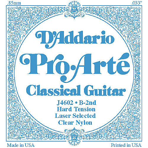 D'Addario J46 B-2 Pro-Arte Clear Hard Single Classical Guitar String-thumbnail