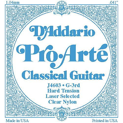 D'Addario J46 G-3 Pro-Arte Clear Hard Single Classical Guitar String-thumbnail