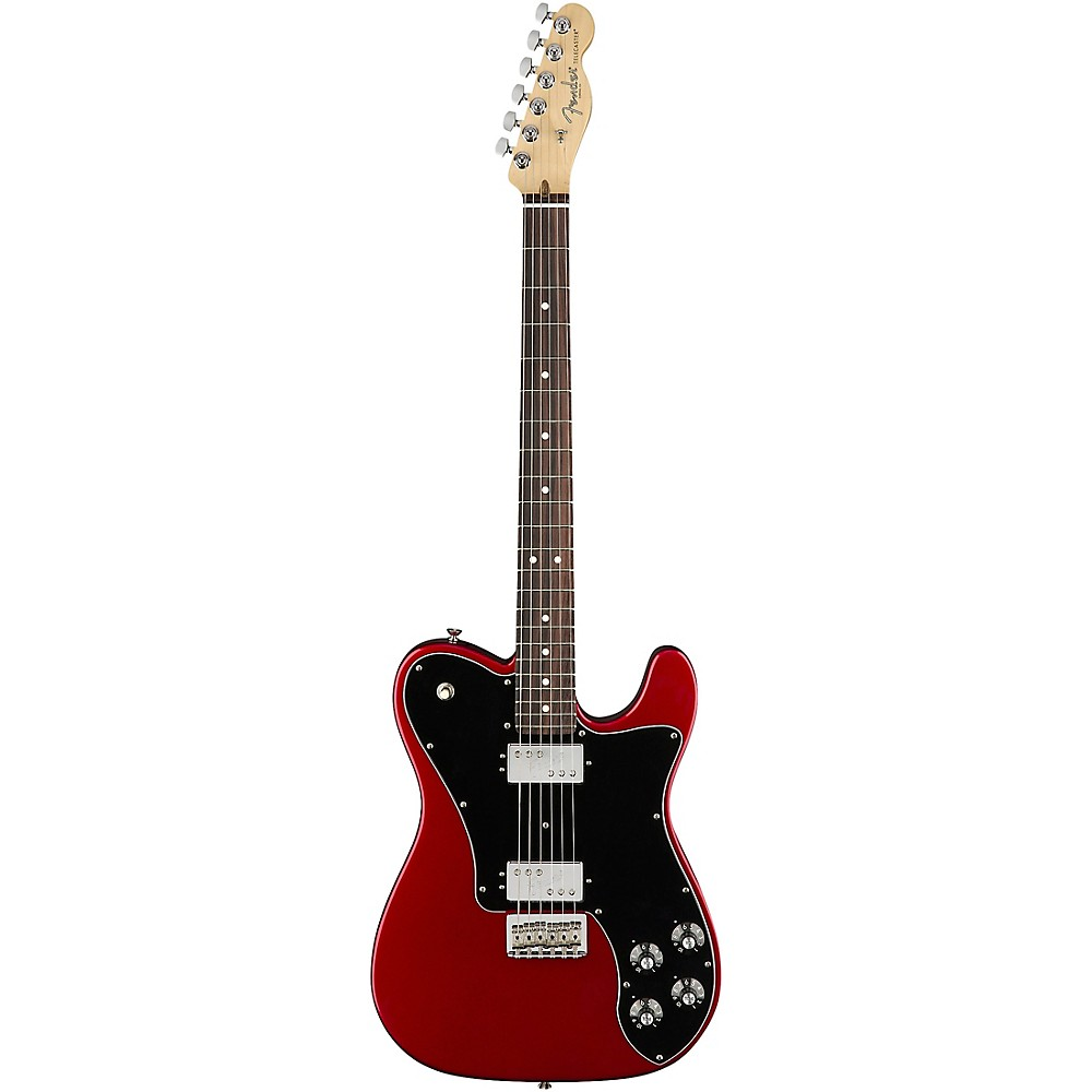 Fender American Professional Telecaster Deluxe Shawbucker Rosewood Fingerboard Electric Guitar Candy Apple Red 1500000142448