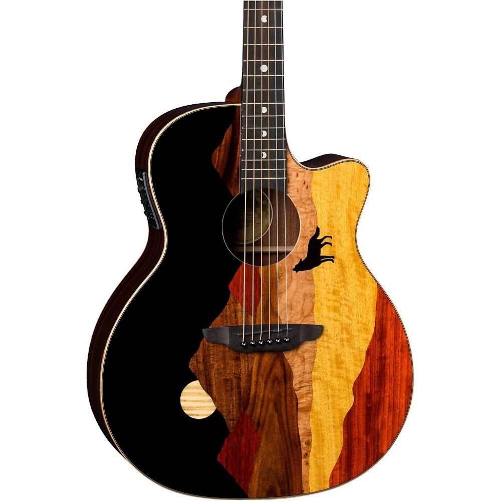 Luna Guitars Vista Wolf Acoustic-Electric Guitar Natural 1500000030662