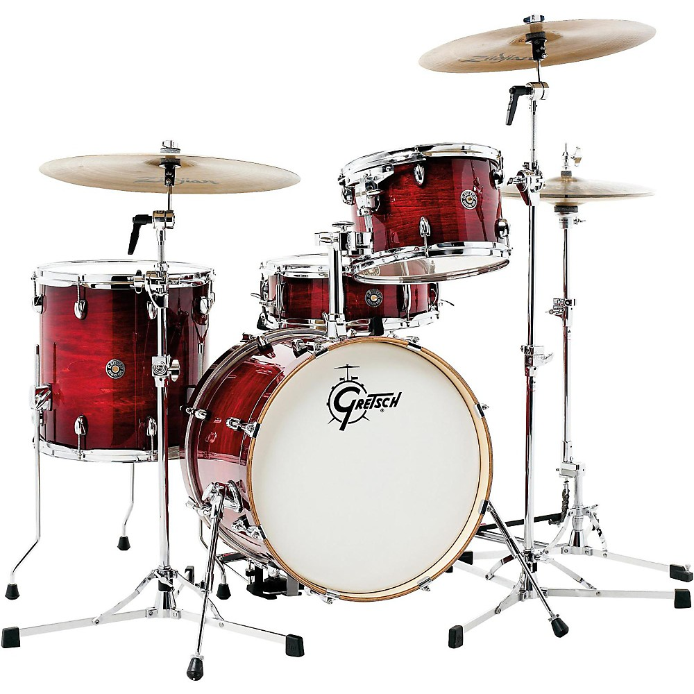 Gretsch Drums Catalina Club Jazz 4-Piece Shell Pack Gloss Crimson Burst 1500000031673