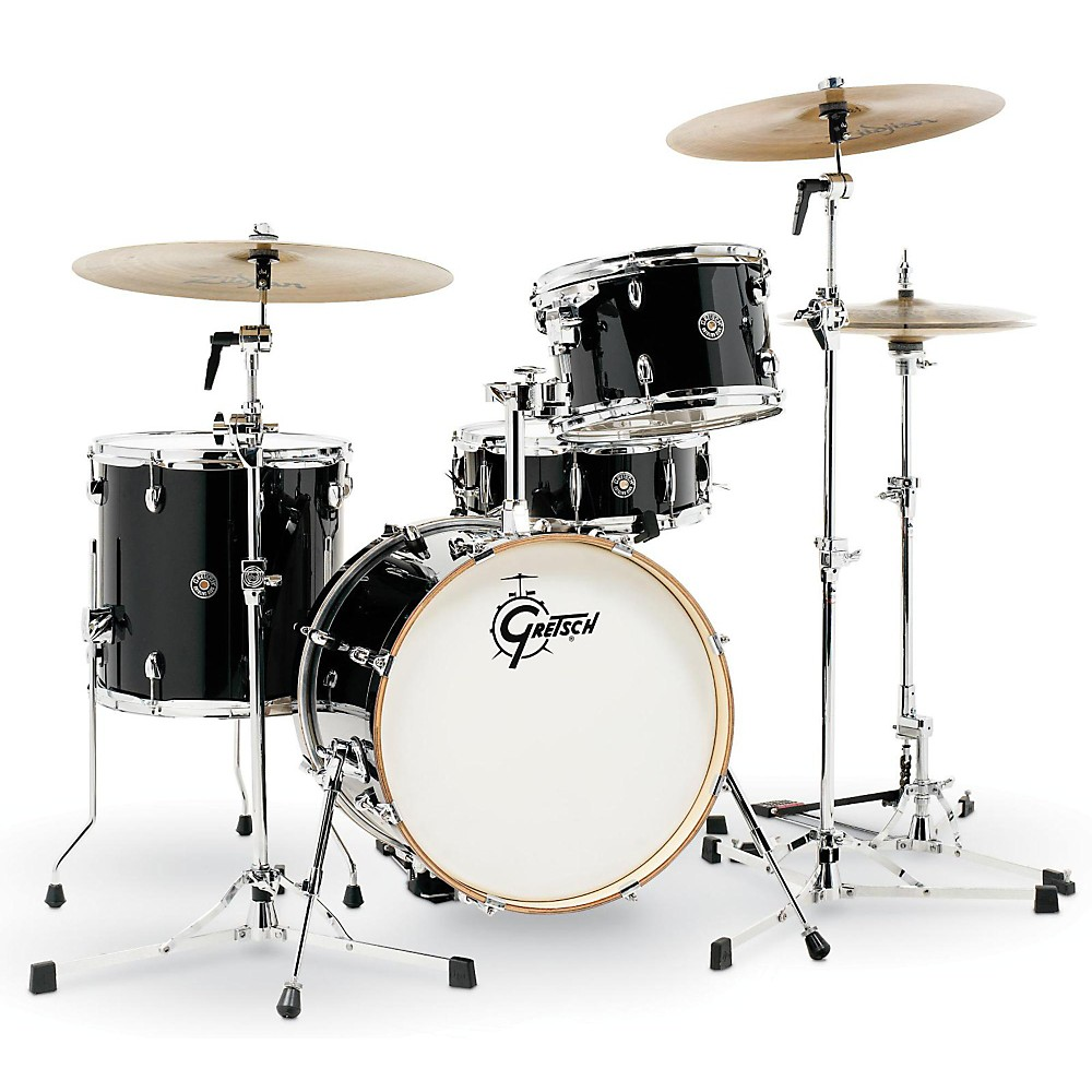 Gretsch Drums Catalina Club Jazz 4-Piece Shell Pack Piano Black 1500000031676