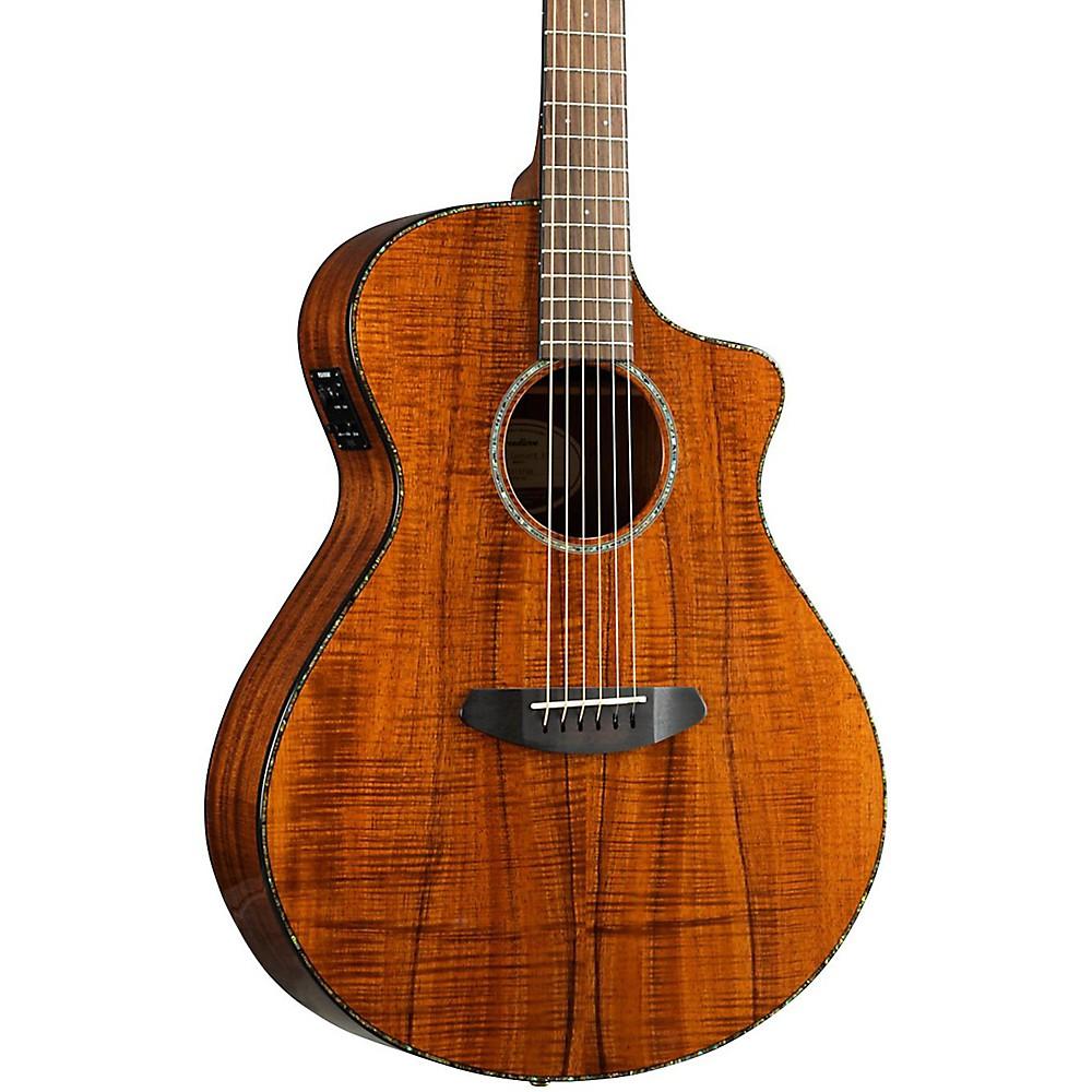 Breedlove Pursuit Exotic Concert CE Koa-Koa Acoustic-Electric Guitar Gloss Natural 1500000034248