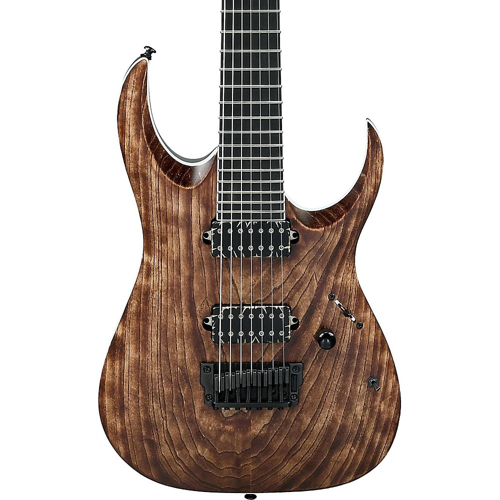 Ibanez Rga Iron Label Rgaix7u 7-String Electric Guitar Antique Brown Stained 1500000033072