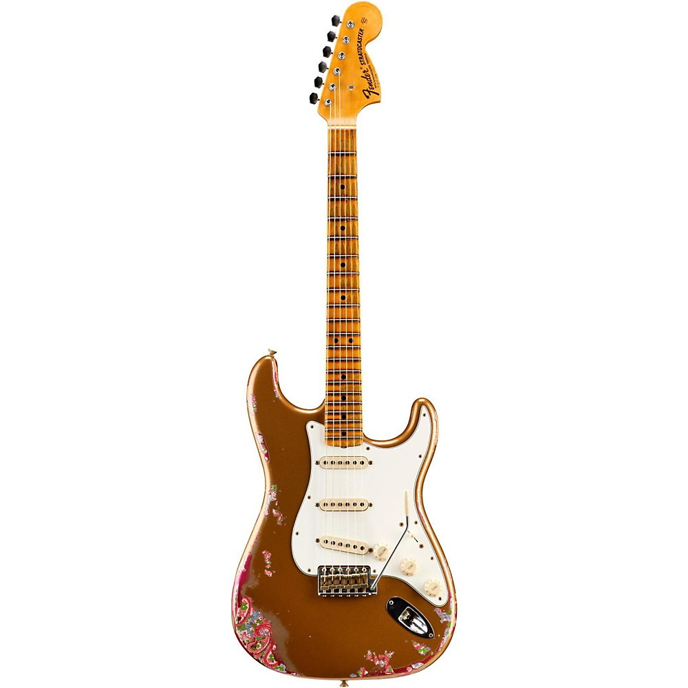 Fender Custom Shop Limited Edition Namm '69 Heavy Relic Stratocaster Electric Guitar Aged Fire Mist Gold Over Pink Paisley 1500000040492