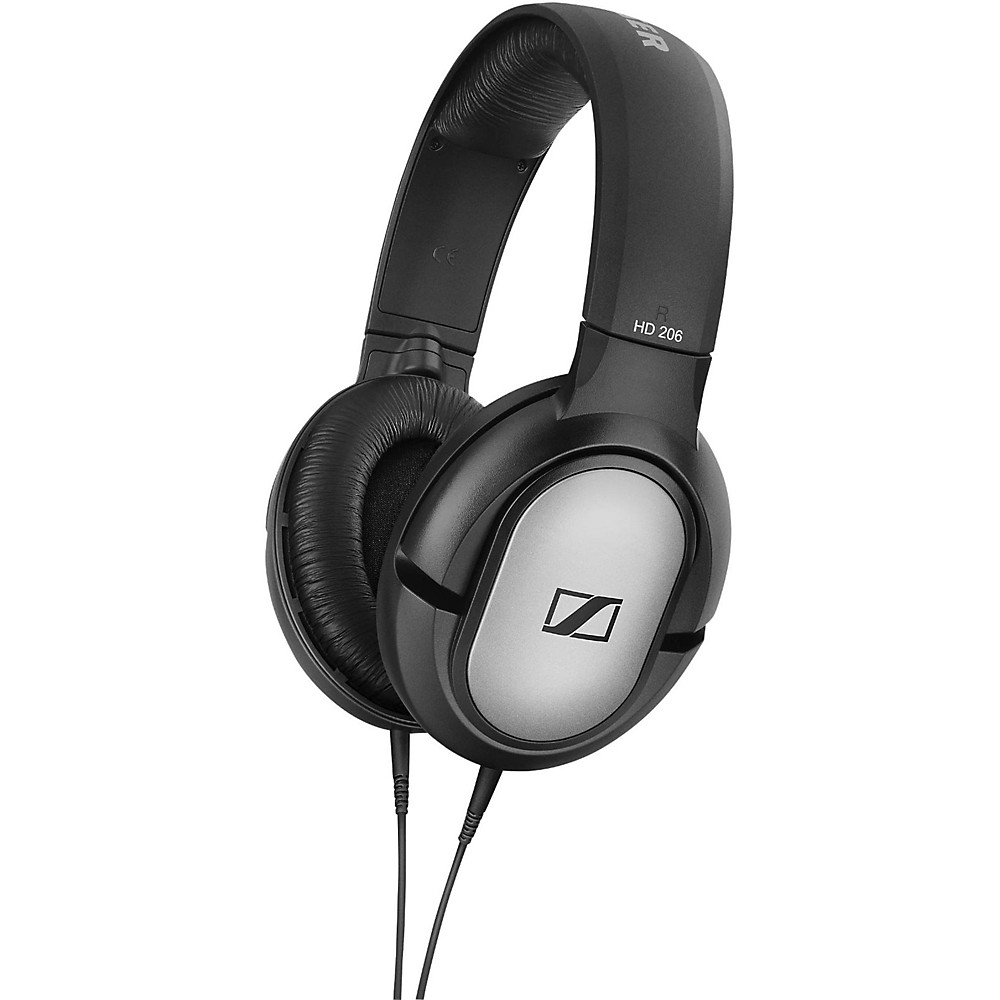 Sennheiser HD 206 Over Ear Headphones Black 1500000042864