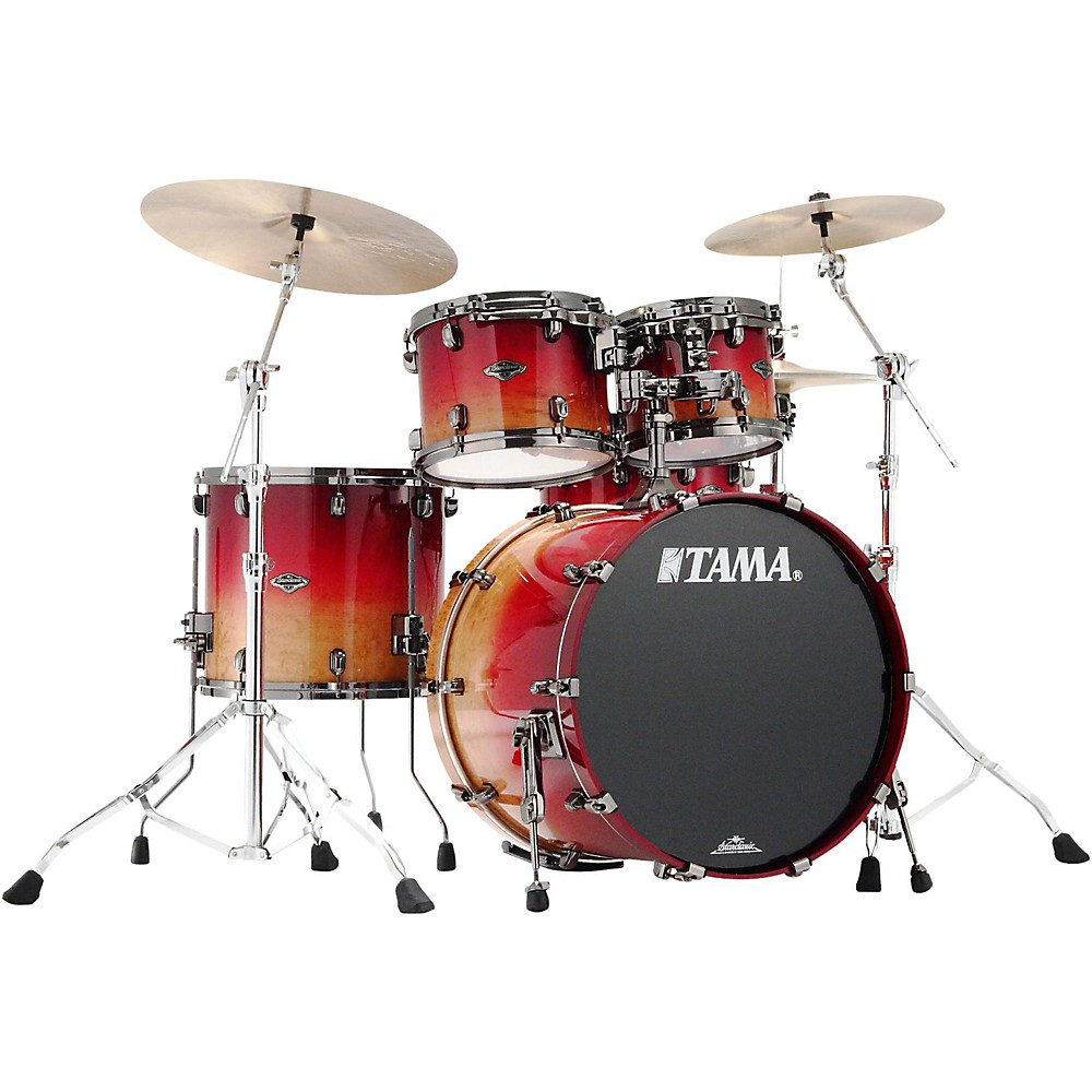 Tama Starclassic Performer B/B Limited Edition 4-Piece Shell Pack Figured Ruby Fade Ruby Fade Figured 1500000047928